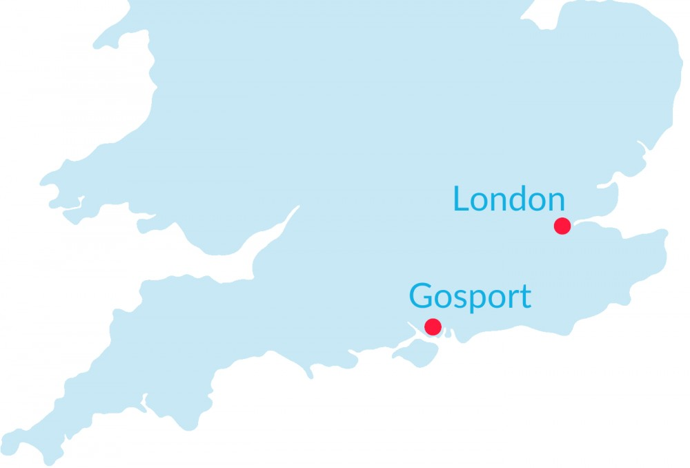 finding gosport on the map